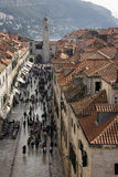 Placa or Stradun is central street in Dubrovnik Stock Photos