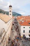 Placa street in Dubrovnik Royalty Free Stock Image