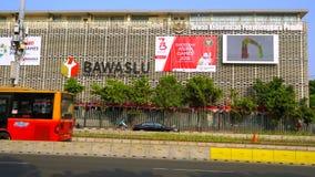 A placa supervisória da eleição de Indonésia filme
