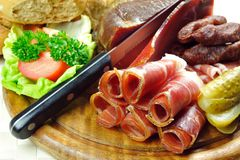 Placa tirolesa do bacon Imagens de Stock