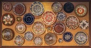Placa tradicional auténtica del folclore nacional rumano Fotografía de archivo