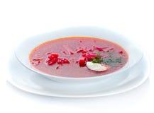 Placa tradicional del borscht Fotografía de archivo