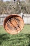 Placa tradicional hecha a mano hecha fuera de cerámica Foto de archivo libre de regalías