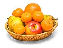 Placa trançada com frutas Foto de Stock Royalty Free
