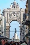 Placa tun Comercio und ACRO DA Rua Augusta Lizenzfreies Stockfoto