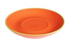 Placa vacía anaranjada Imagen de archivo libre de regalías