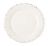 Placa vazia branca do vintage no fundo branco Imagem de Stock Royalty Free