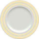 Placa vazia da argila de porcelana com quadro decorativo Fotografia de Stock Royalty Free