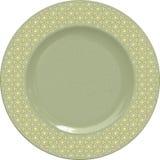 Placa vazia da argila de porcelana com quadro decorativo Imagens de Stock