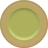 Placa vazia da argila de porcelana com quadro decorativo Imagem de Stock Royalty Free