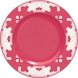 Placa vazia da argila de porcelana com quadro decorativo Fotos de Stock Royalty Free