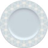 Placa vazia da argila de porcelana com quadro decorativo Imagens de Stock Royalty Free