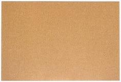 Placa vazia da cortiça com o quadro de madeira branco, isolado imagens de stock