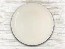 Placa vazia da porcelana para usos diferentes foto de stock