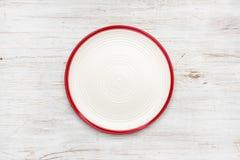 Placa vazia na textura de madeira do vintage Vista superior com Copyspace fotografia de stock royalty free
