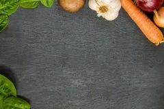 Placa vegetal Estada saudável - coma orgânico Fotografia de Stock