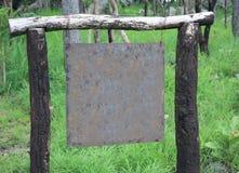 Placa velha do sinal da placa de metal Foto de Stock