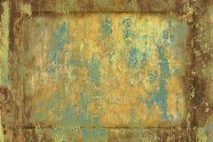 Placa velha oxidada ilustração stock