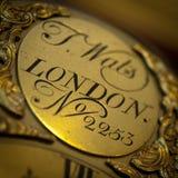 Placa vieja del reloj Imágenes de archivo libres de regalías