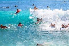 Placa Waikiki da dança Imagens de Stock