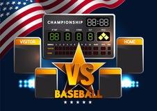 Placar do basebol ilustração stock