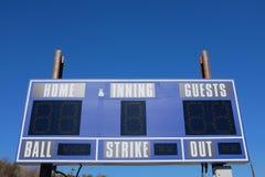 Placar do basebol Foto de Stock Royalty Free