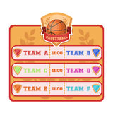 Placard on the basketball court.Basketball single icon in cartoon style vector symbol stock illustration web. Royalty Free Stock Image