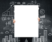 Placard with  business plan Stock Photography