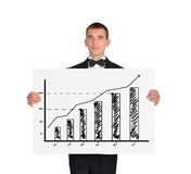 Placard with chart Stock Photo