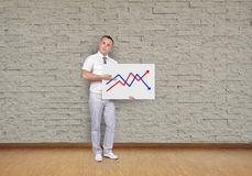 Placard with chart Royalty Free Stock Image