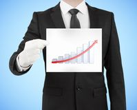 Placard with chart Royalty Free Stock Photo