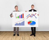 Placard with charts Stock Images