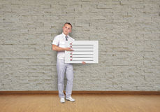 Placard with check box Royalty Free Stock Photo