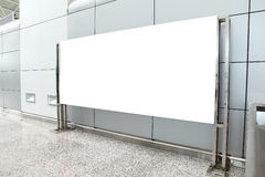 Placard with copy space in airport Stock Images