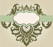 Placard with Damask Element royalty free illustration
