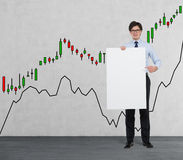 Placard with drawing chart Royalty Free Stock Photo