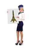 Placard with eiffel tower Stock Images