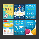 Placard, Flyer, Brochure, Poster Set. Vector Royalty Free Stock Images
