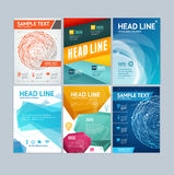 Placard, Flyer, Brochure, Poster Set. Vector Royalty Free Stock Image