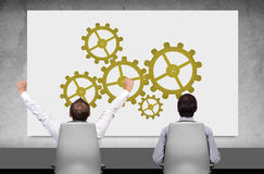 Placard with gears Royalty Free Stock Images