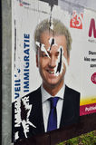 Placard of Geert Wilders Royalty Free Stock Image