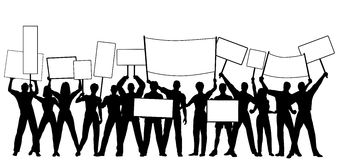 Placard holders Stock Photography