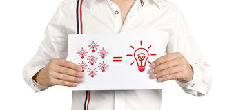 Placard idea formula Stock Images