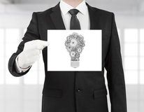 Placard with lamp Stock Photo