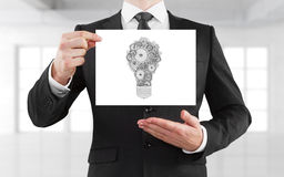 Placard with lamp Royalty Free Stock Photos
