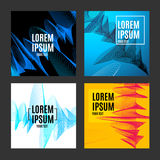 Placard, Poster or Flyer Template Set with Abstract Music Equalizer Design. Vector. Placard, Poster or Flyer Template Set with Abstract Music Equalizer Business Stock Photos