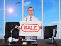 Placard with sale Royalty Free Stock Image