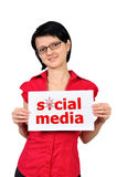 Placard social media Stock Images