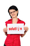 Placard solution Stock Photography