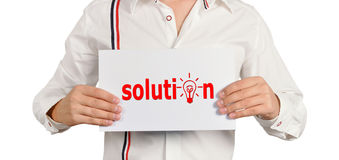 Placard solution Royalty Free Stock Photos